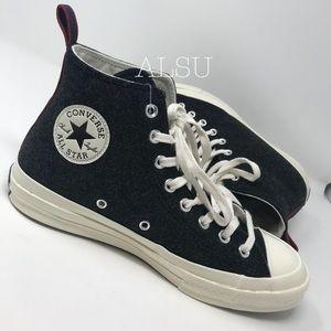 NWT Converse Ctas 70 HI Black Egret W AUTHENTIC